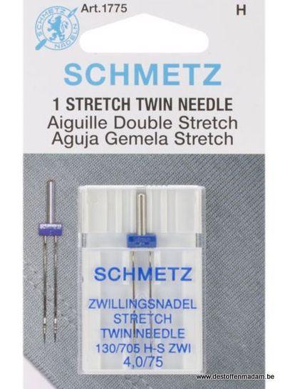 Schmetz - Stretch tweelingnaald 75