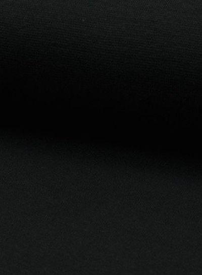 black - solid rib cuff
