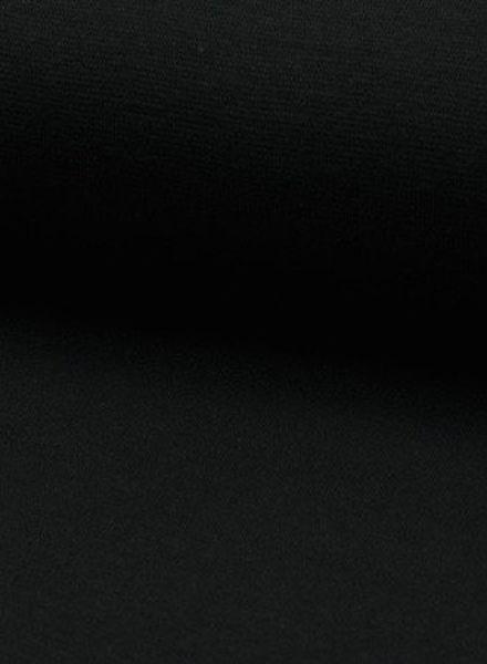 zwart -  effen boordstof OEKO TEX