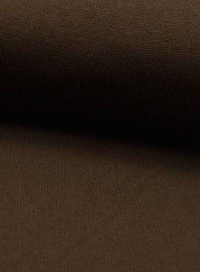 dark brown -  - solid rib cuff