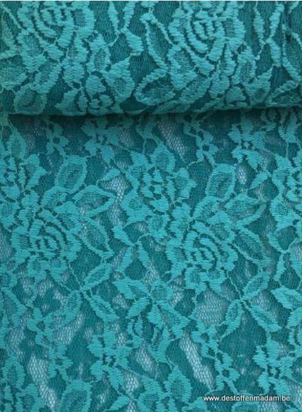 kanten stof - oceaanblauw