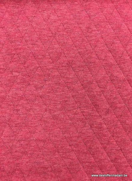 roze doorstikte sweat