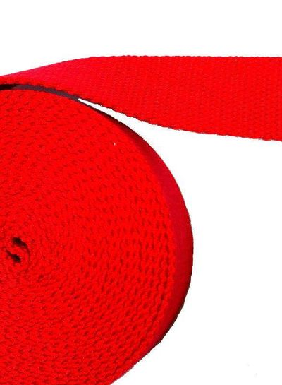 cotton webbing red