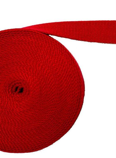 cotton webbing cherry red