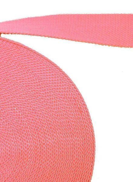 cotton webbing pink