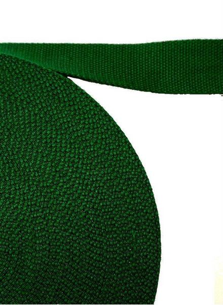 cotton webbing dark green