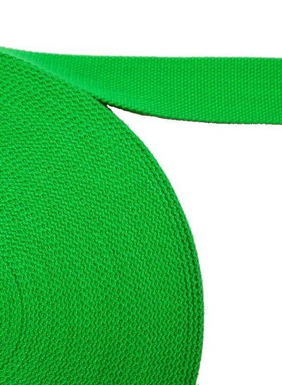 cotton webbing grass green