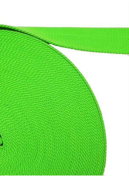 cotton webbing fluorescent green