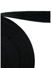 cotton webbing black