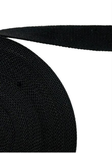 cotton webbing black