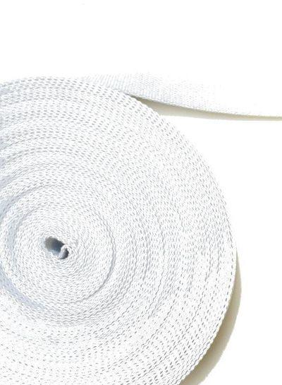 cotton webbing white