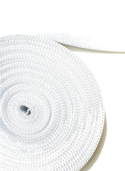 cotton webbing white