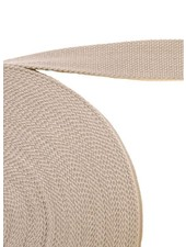 cotton webbing beige