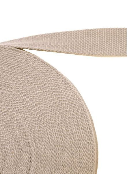 cotton webbing beige