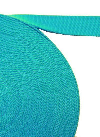 cotton webbing bright blue