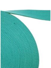 cotton webbing greenish blue