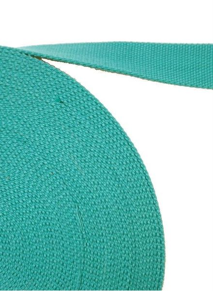 cotton webbing greenish blue