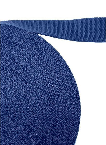 cotton webbing cobalt blue