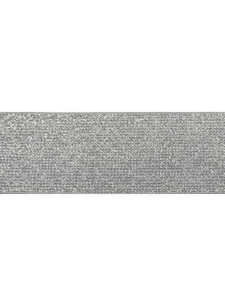 grijs 5cm glitter taille elastiek