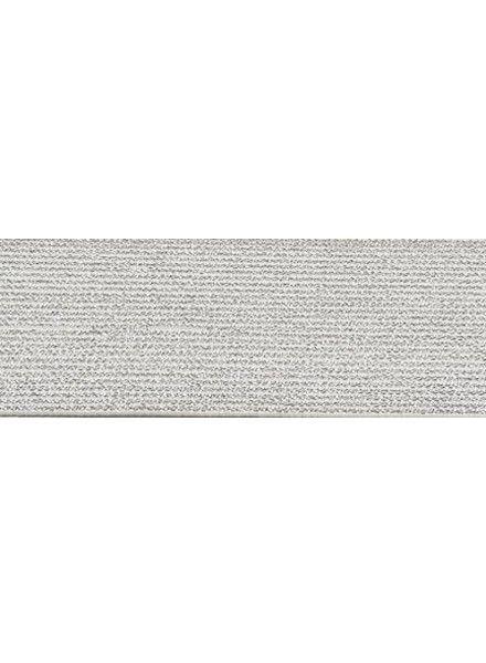 wit 5cm glitter taille elastiek
