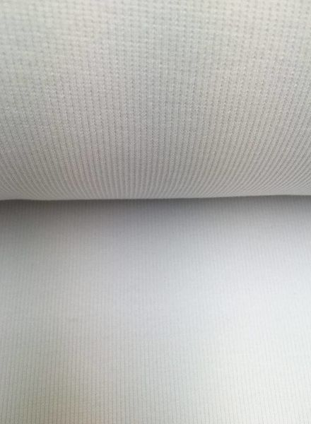 boordstof ribbel wit