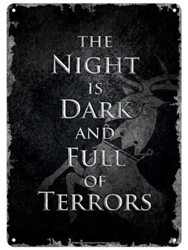 Game of Thrones | Dark Night Blechschild