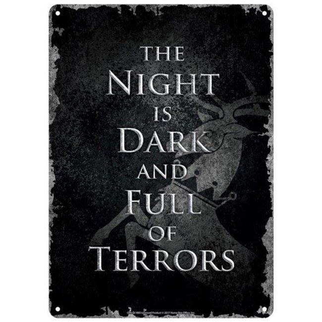 Half Moon Bay Game of Thrones | Dark Night Blechschild
