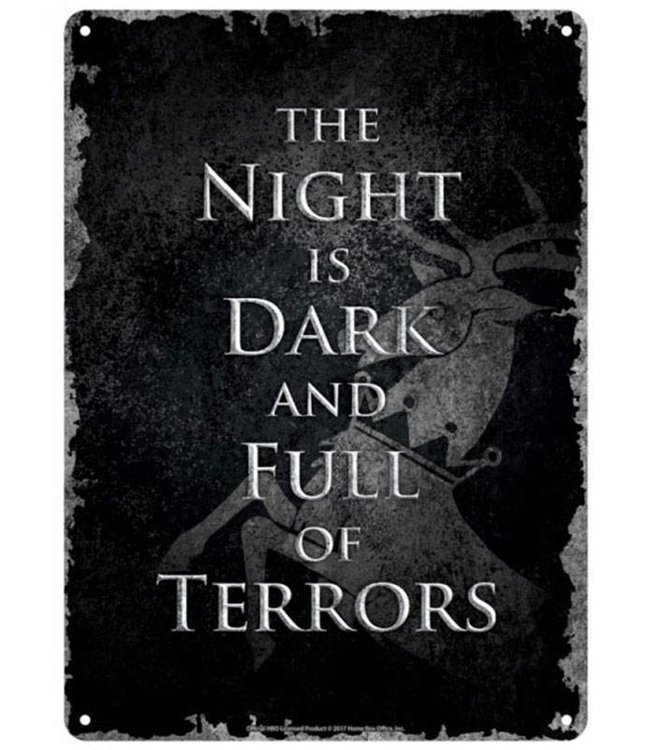 Half Moon Bay Game of Thrones | Dark Night Blechschild