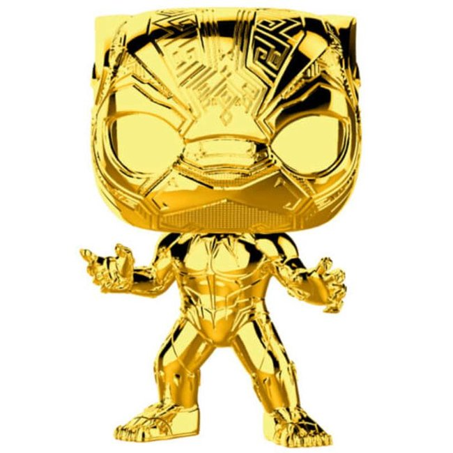 Funko Marvel | Black Panther (Gold Chrome) Funko Pop Vinyl Figur