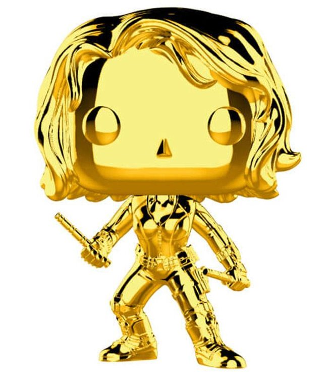 Funko Marvel | Black Widow (Gold Chrome) Funko Pop Vinyl Figur