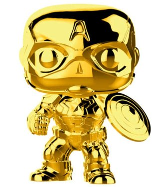 Funko Marvel | Captain America (Gold Chrome) Funko Pop Vinyl Figur