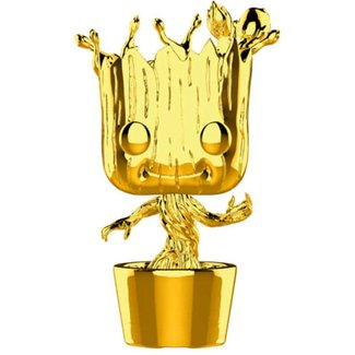 Funko Marvel | Groot (Gold Chrome) Funko Pop Vinyl Figur