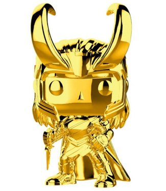 Funko Marvel | Loki (Gold Chrome) Funko Pop Vinyl Figur