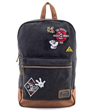 Loungefly Loungefly Disney   Mickey Mouse (Patches) Denim Rucksack