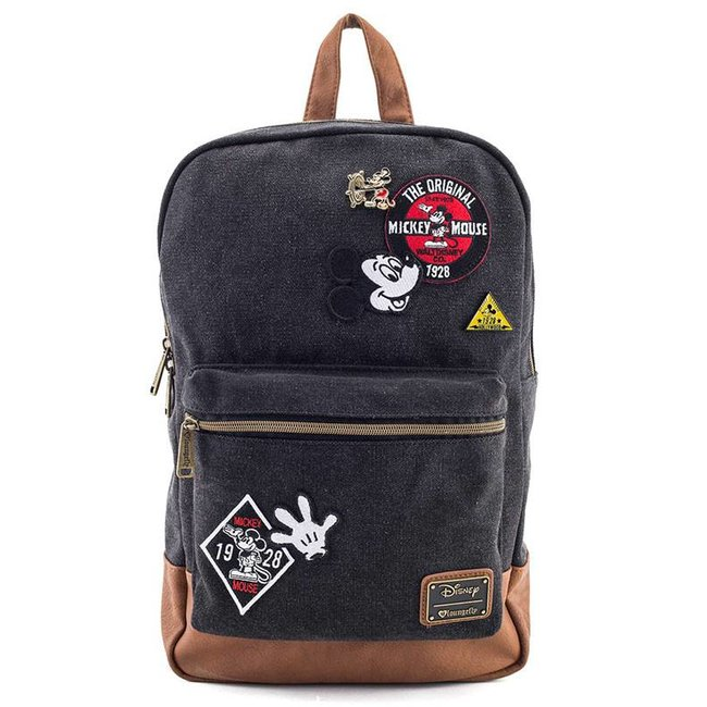 Loungefly Loungefly Disney | Mickey Mouse (Patches) Denim Rucksack