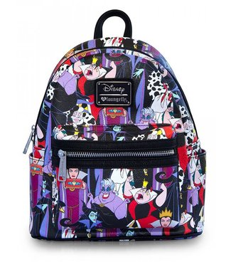 Loungefly Loungefly Disney | Villains (AOP) Mini Rucksack