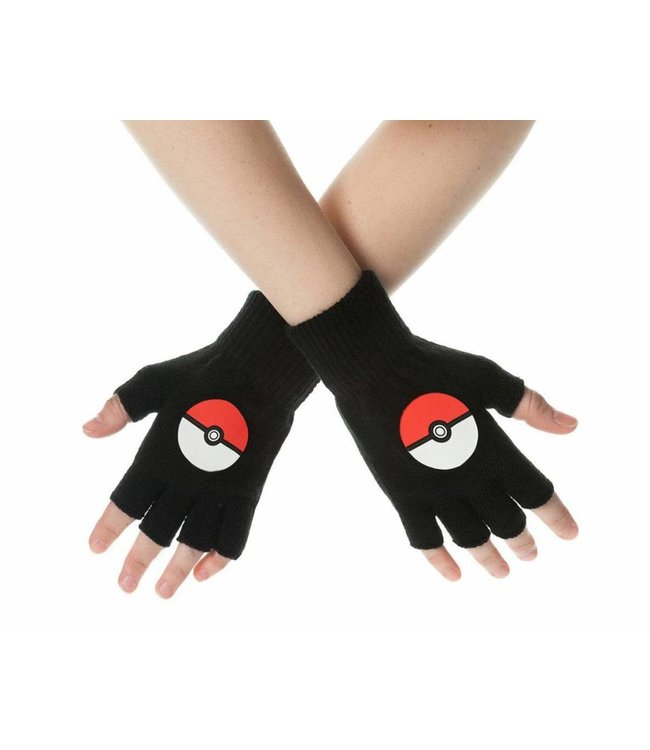 Pokémon Pokemon | Pokeball Handschuhe (Fingerlos)