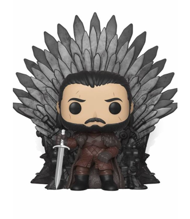 Funko Game of Thrones | Jon Snow (Iron Throne) Funko Pop Deluxe Vinyl Figur