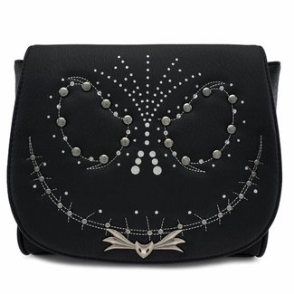 Loungefly Loungefly NBC | Jack Skellington (Nieten) Crossbody Bag