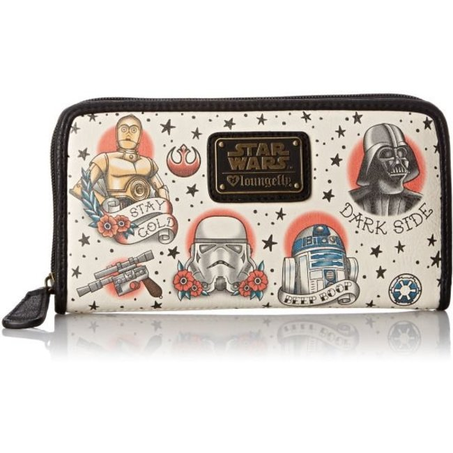 Loungefly Loungefly Star Wars | Tattoo Characters (AOP) Geldbeutel
