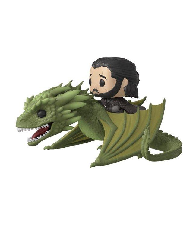 Funko Game of Thrones | Jon Snow with Rhaegal Funko Pop Rides Vinyl Figur