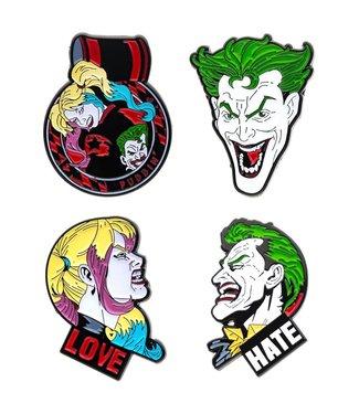 DC Comics DC Comics | Joker and Harley Quinn Ansteck-Pin 4er-Set
