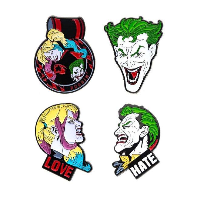 DC Comics DC Comics   Joker and Harley Quinn Ansteck-Pin 4er-Set
