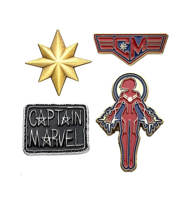 Marvel Marvel | Captain Marvel Ansteck-Pin 4er-Set