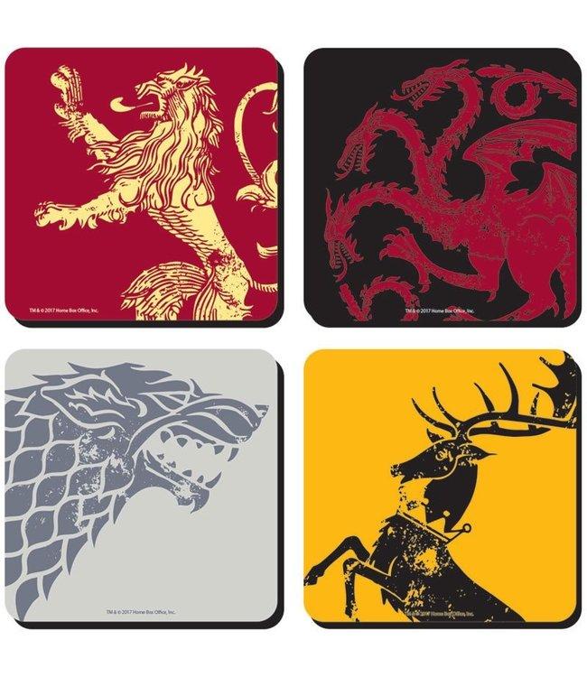 Half Moon Bay Game of Thrones | Wappen Untersetzer (4er-Set)