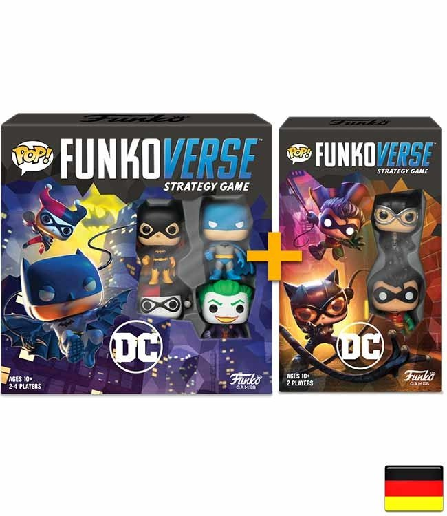 Funko Funkoverse | DC Comics Brettspiel Bundle