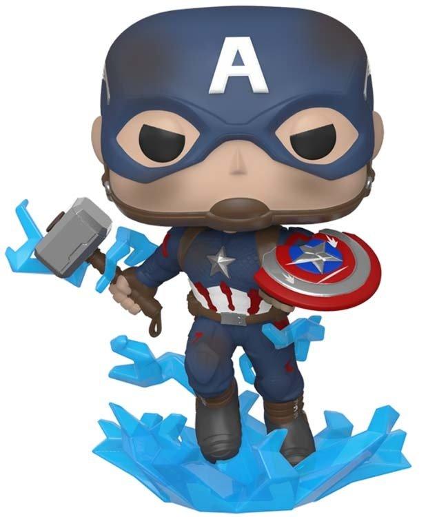 Funko Avengers Endgame | Captain America (Mjolnir) Funko Pop Vinyl Figur