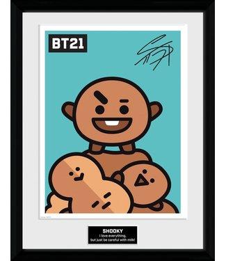 BT21 | Shooky Poster im Rahmen
