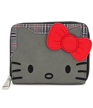 Loungefly Loungefly Hello Kitty | Grey Kitty (Kariert) Geldbeutel