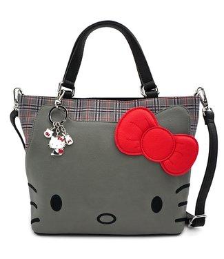 Loungefly Loungefly Hello Kitty | Grey Kitty (Kariert) Crossbody Bag